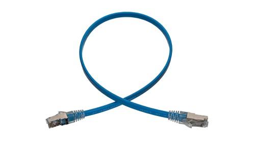 CAT6 28AWG Flat Cable - SuperFlat Shielded STP Aqua Cable