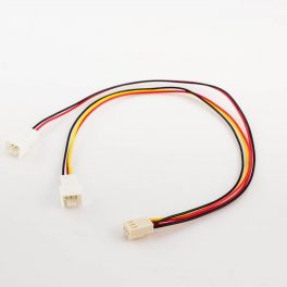 Fan Power Y-Cable 3p Female to 2 x 3p Male with Housing