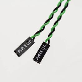 Jumper Wires 2p Female to 2p Female Green/Black (LED)