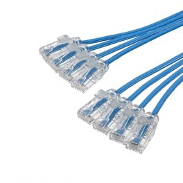 CAT6 28AWG Ribbon x4 Cable – FlexLite™ UTP OD 3.8mm LSZH Blue