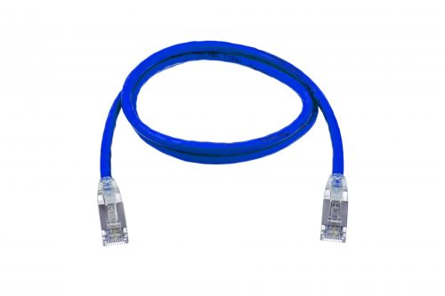 CAT6A 28AWG 10G Cable – FlexLite™ SFTP OD 5.4mm 600MHZ Soft PVC Blue Cable