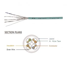 Cat6A Bulk Cable, FlexLite™ UFTP 28AWG Solid, LSZH Section Plans