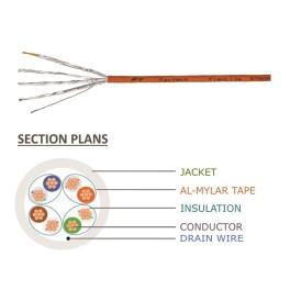 Cat6a Bulk Cable, FlexLite™ UFTP 28AWG Stranded, LSZH Section Plans