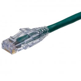 CAT5e Cable – Sentinel®Plug, Snagless with Clear Boot Green