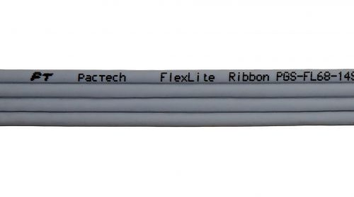CAT6 28AWG Ribbon x4 Cable – FlexLite™ UTP OD 3.8mm Soft PVC Grey Marking