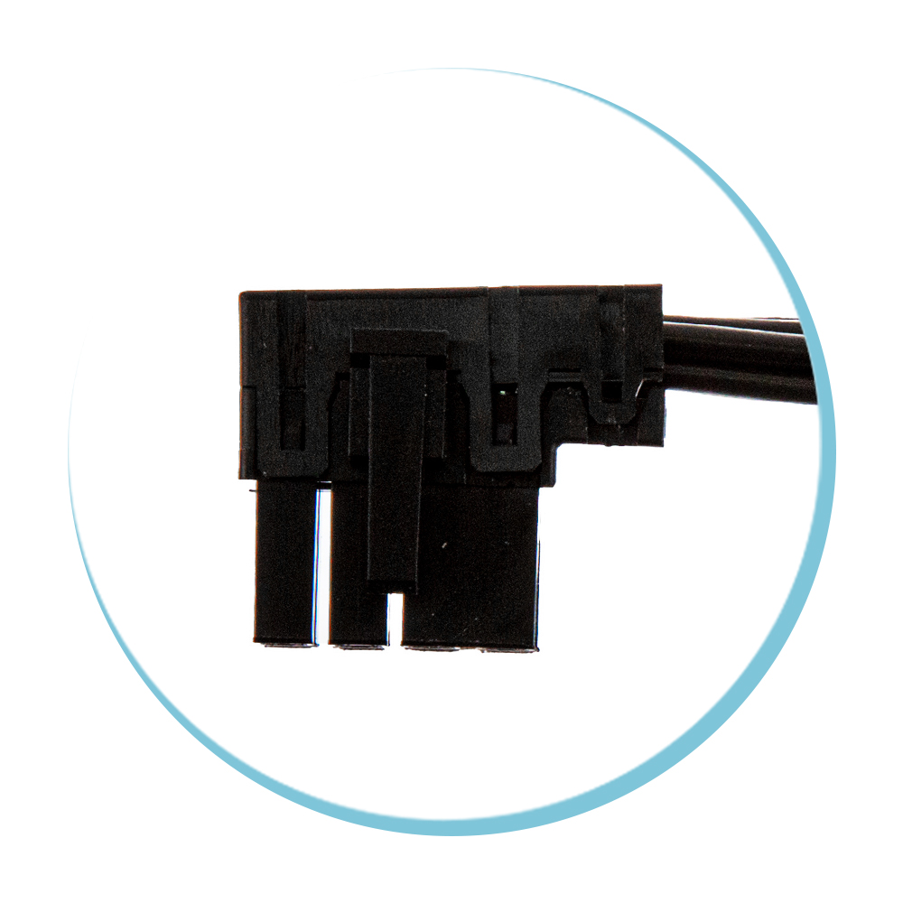 8P EPS Left Angled Connector