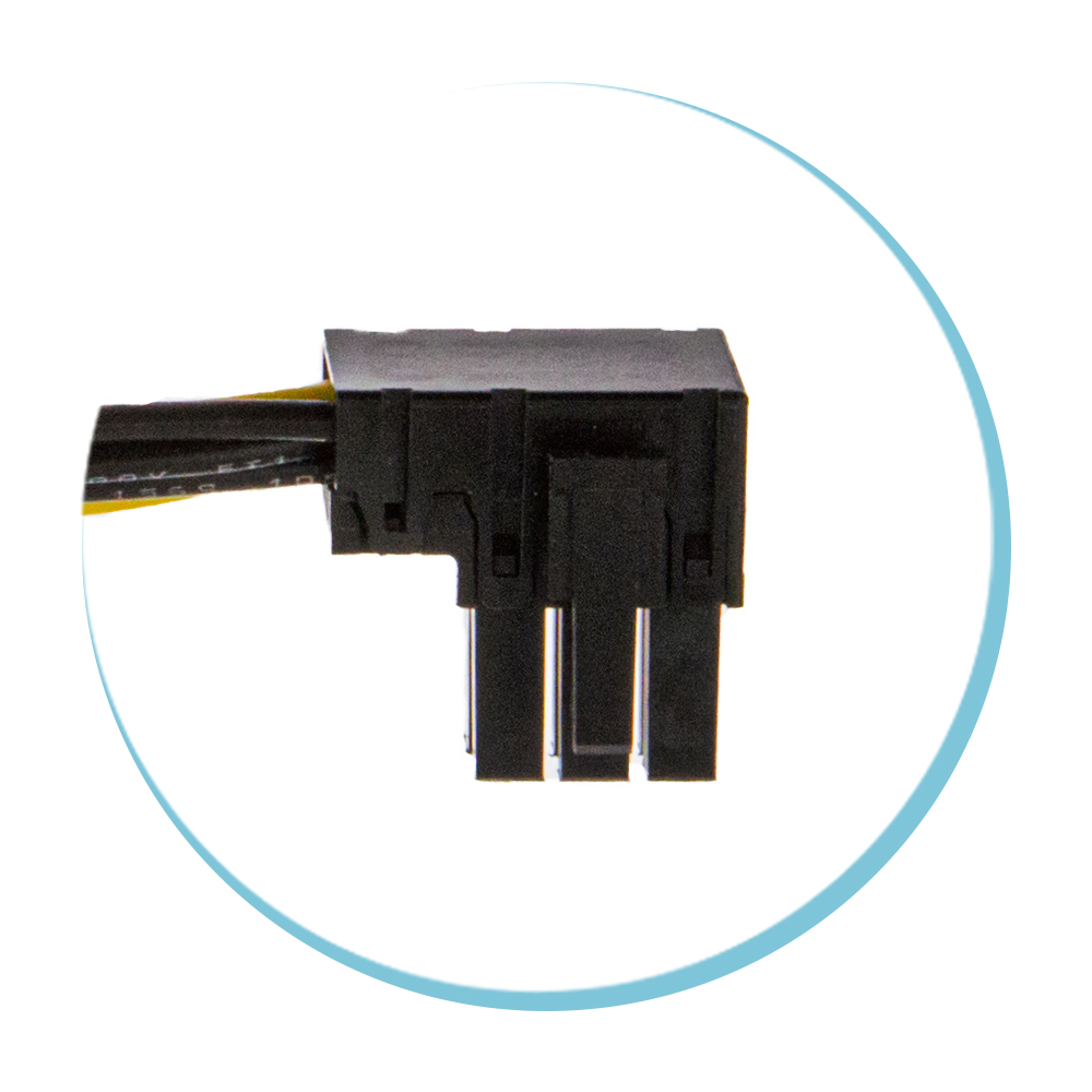 6P PCIE Left Angled Connector