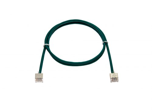 CAT6 28AWG Cable – FlexLite™ FUTP Soft PVC With STP Short Plug Green Cable