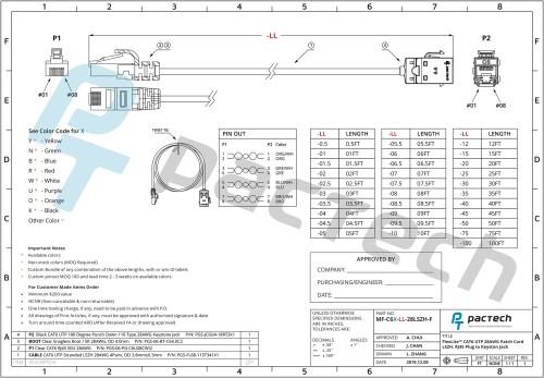 FlexLite™ CAT6 UTP 28AWG Patch Cord LSZH RJ45 Plug to Keyston Jack