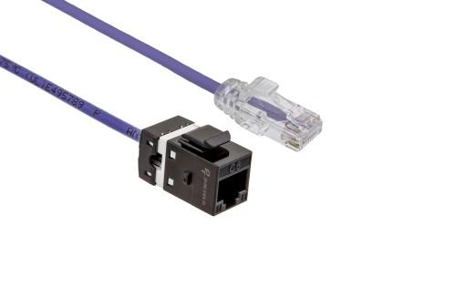 FlexLite Cat6 UTP LSZH Plug - Purple