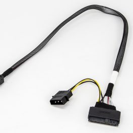 Amphenol Mini SAS 36P TO PCI-E 68P with HSG Power Cable